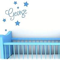 Personalised Wall Name with Stars - Custom Nursery Sticker