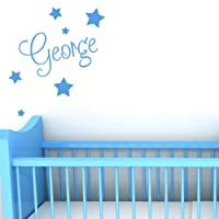 Personalised Wall Name with Stars - Custom Nursery Sticker