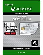 Grand Theft Auto Online - GTA V Great White Shark Cash Card | 1,250,000 GTA-Dollars | Xbox One - Código de descarga