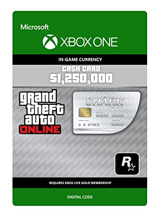 Grand Theft Auto Online - GTA V Great White Shark Cash Card ...