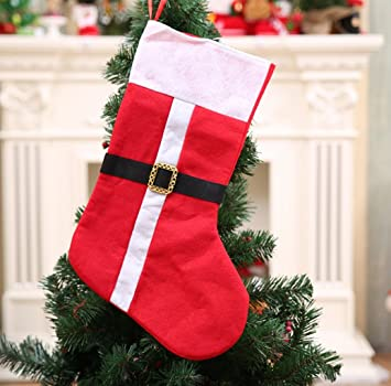 winzik calcetín de Navidad bolsas, 18,1 x 8,2 cm, fieltro