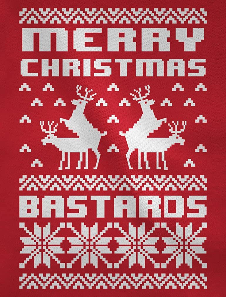 Merry Christmas Bastards Humping Reindeer Funny Ugly Christmas Singlet