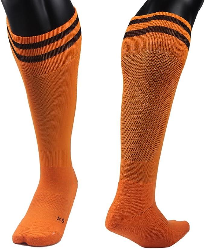 Lian LifeStyle Girls 1 Pair Knee Length Sports Athletics Socks Striped 003 XXS//XS//S//M