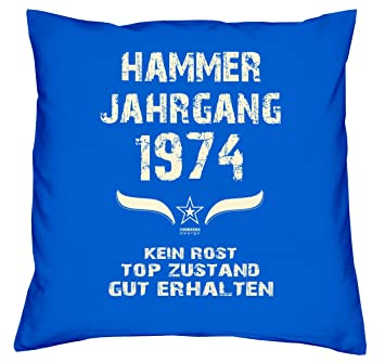 Hammer Jahrgang 1974 Sprüche Kissen 40x40 Für Die Ganze