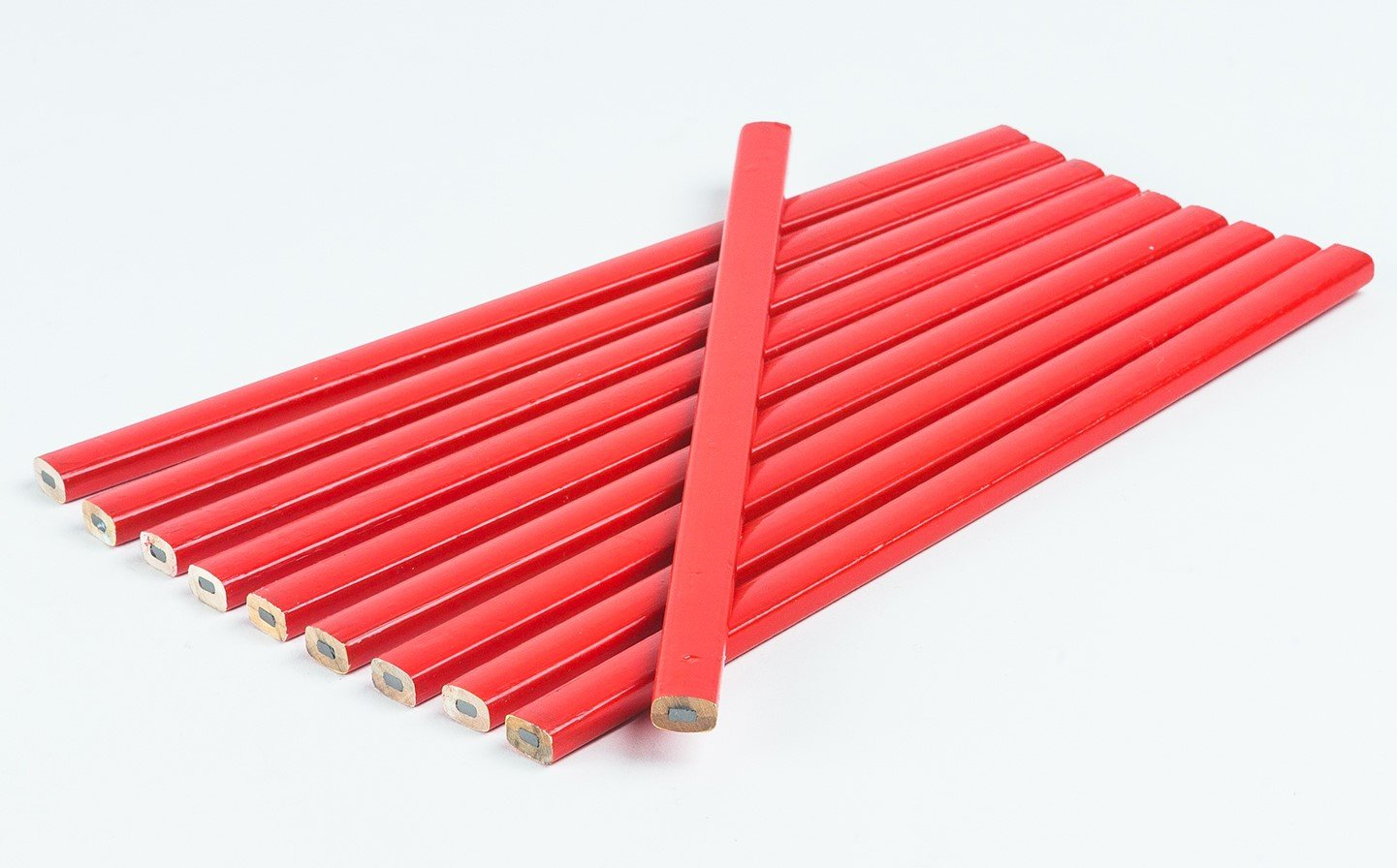 20 Crayons de charpentier 250 mm Rouge Ovale Goodway