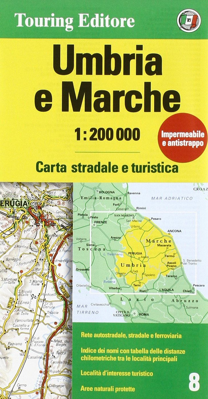 Toscana E Umbria Cartina.Amazon It Umbria Marche 1 200 000 Ediz Multilingue Collectif Libri