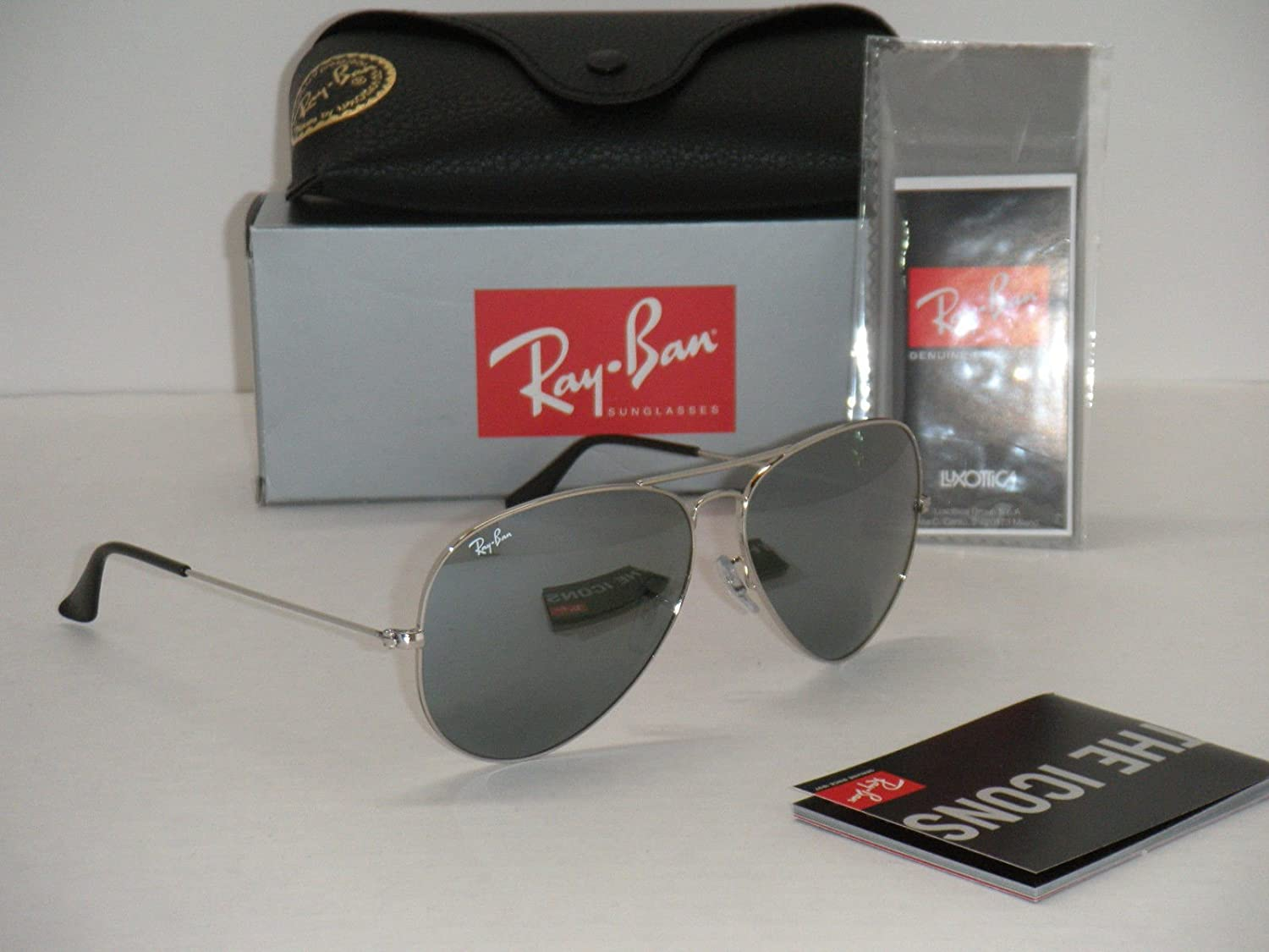 ray ban aviator silver mirror sunglasses  amazon: ray ban 3025 aviator rb 3025 003/40 62mm silver frame / full silver mirror large: shoes