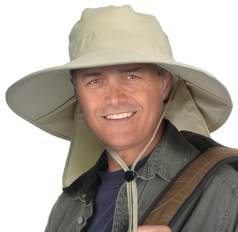 Sun Blocker Outdoor Sun Protection Fishing Cap with Neck Flap Wide Brim Hat for Men Women Baseball, Backpacking, Cycling, Hiking, Garden, Hunting, Camping
