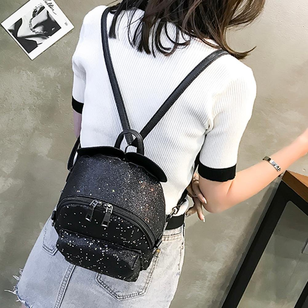 bdd5870b5ab8 asiproper Shining Sequins Women Cute Small Backpacks PU Leather School Bags  Girls Princess Shoulder Bag  Amazon.in  Bags