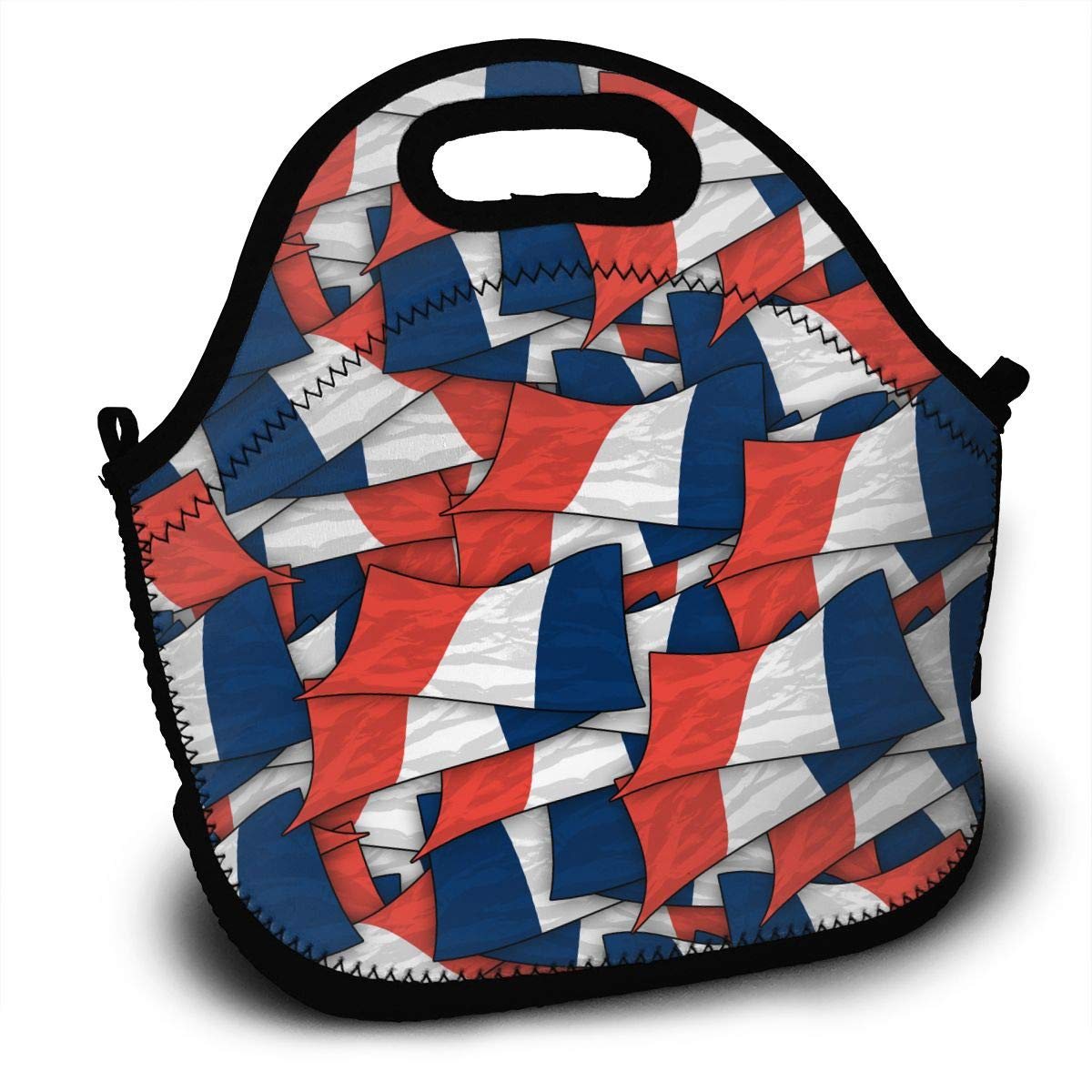 05427f0d2dcb Amazon.com - Midsummer Sky Neoprene Lunch Bags France Flag Wave ...