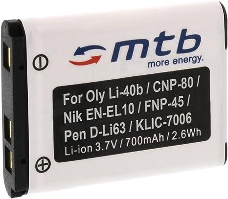 Batería de ion de litio para Nikon Coolpix s60 s80 s200 s210 s220 s225 s230 s500 s510 s520