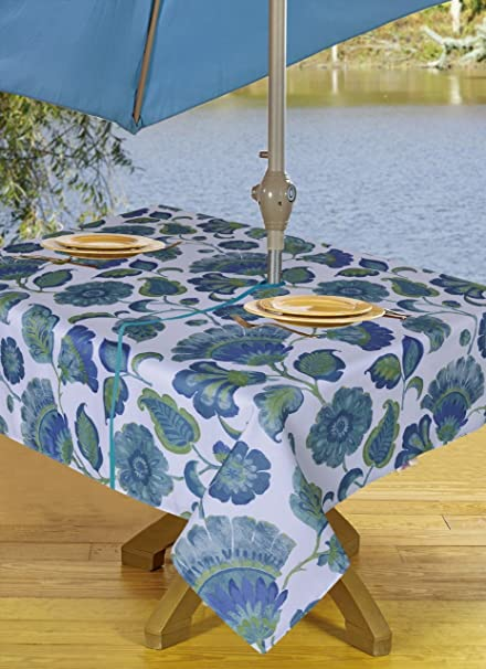 Amazon Com Tablecloths Outdoor Tablecloth With Umbrella Hole