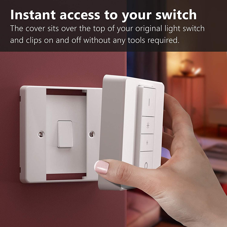 IYOKI Hue Light Switch Covers for Dimmer Switch 1, Fur eine einzige Dimmschalter