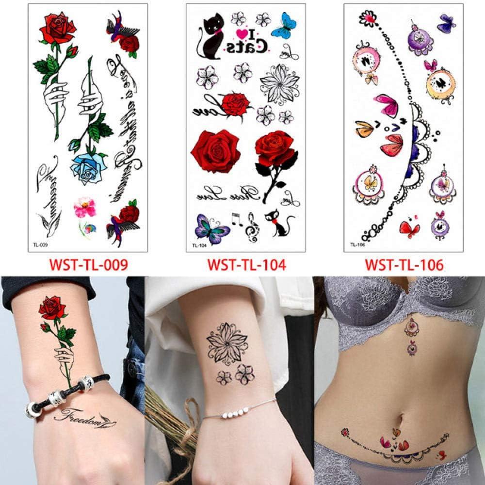 tzxdbh 3 Piezas/Set Pegatinas de Tatuaje de Cuerpo de Dibujos ...