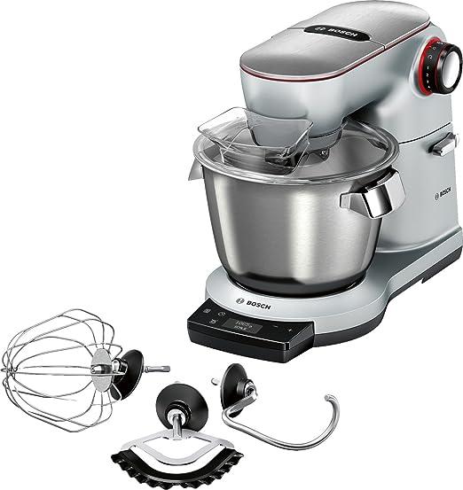 Bosch MUM9AX5S00 OptiMUM Küchenmaschine (1500 W, 3 Profi-Rührwerkzeuge  Edelstahl, spülmaschinenfest, integrierte Waage, Automatikprogramm, Timer,  ...