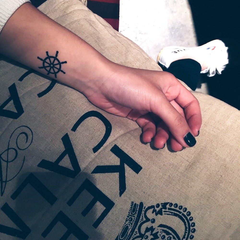 Tatuaje Temporal de Timón de timón (2 Piezas) - www.ohmytat.com ...