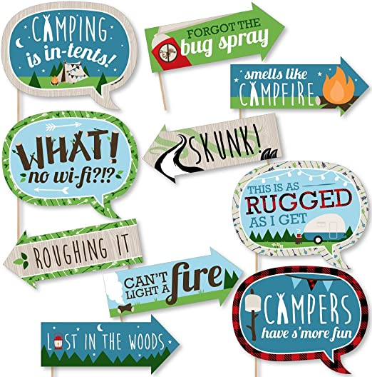 Amazon.com: Funny Happy Camper – Camping Baby Shower o ...