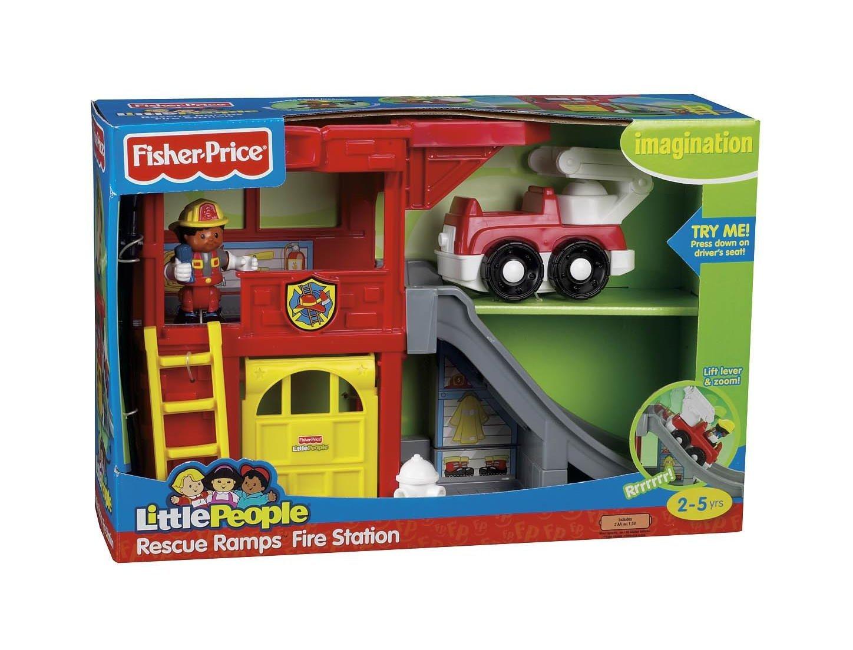 Mattel P3331-0 - Fisher-Price - Little People Feuerwehstation