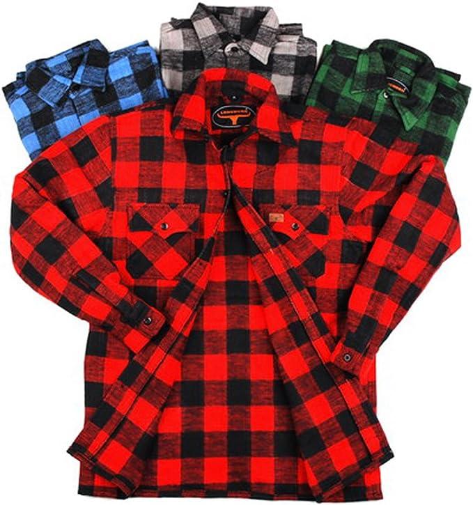 Camisa de leñador 100% algodón: Amazon.es: Ropa y accesorios