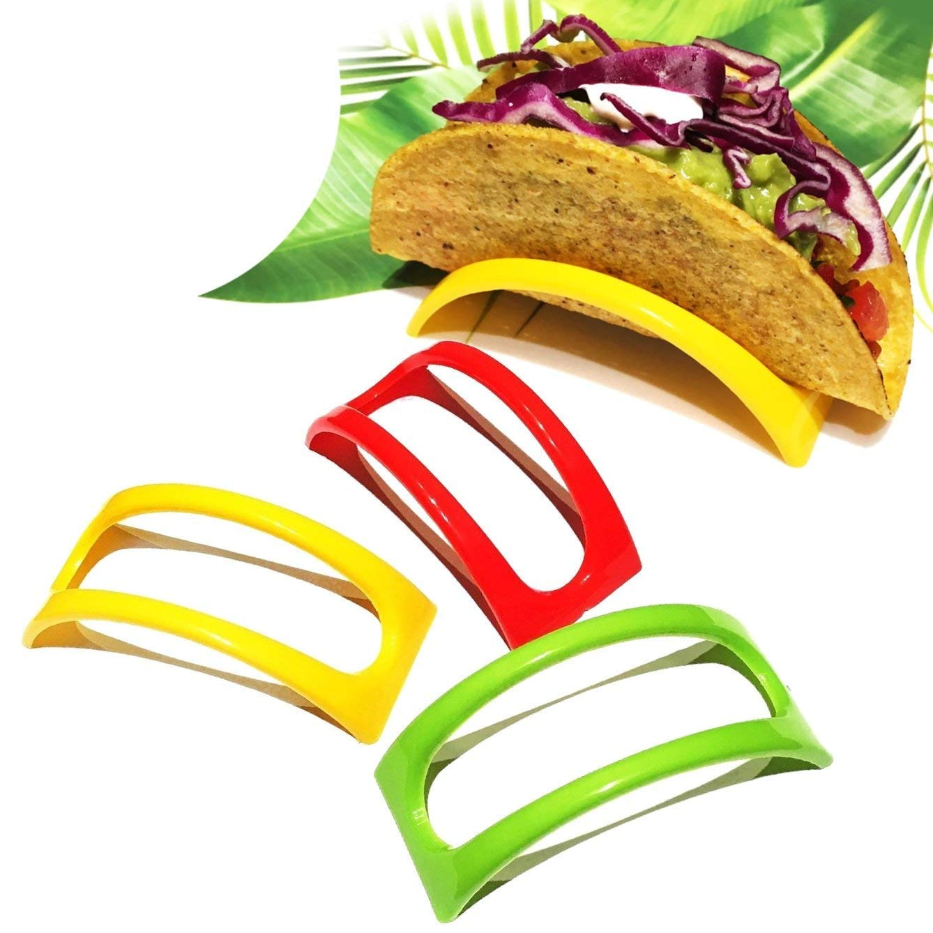 BPA Free Taco Rack Stand for Dinner Party Microwave Safe Taco Shell Holders DodoBee 12PCS Taco Holder Dishwasher and Grill Safe Taco Stand for Soft and Hard Shells Colorful Non-Toxic Taco Holders