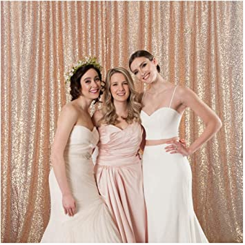 Sparkly Sequin Backdrop Photo Booth Curtain Wedding Party Background 4ft x 7ft