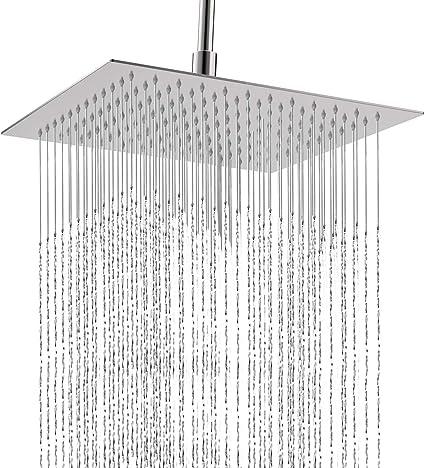 Cabezal de ducha Qunlife, cabezal de ducha de 360 grados, ajustable, de alta presión, ultra delgado, con boquilla de silicona autolimpiable para baño y hotel: Amazon.es: Bricolaje y herramientas