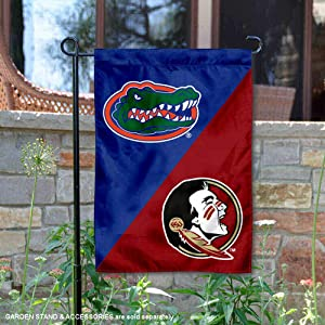 College Flags and Banners Co. Florida State Seminoles House Divided Garden Flag