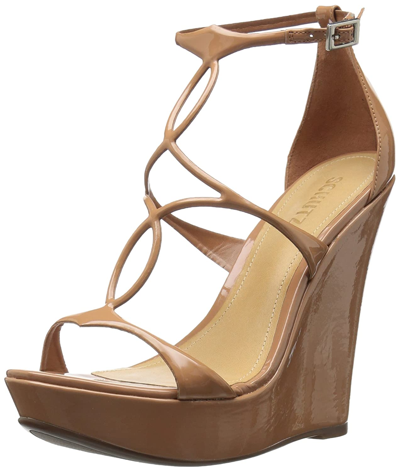 SCHUTZ Women's Sevil Wedge Sandal B0721876M7 9 M US|Toasted Nut