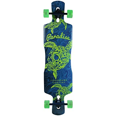 "Paradise Freeride Longboard Complete 41"" Turtle Skull Freestyle Drop Thru : Sports & Outdoors"