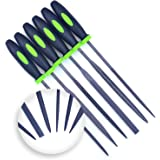 Needle File Set (HIGHEST QUALITY 6 PIECE SET) Hardened Alloy Strength Steel - Mini Needle File Set Includes Flat, Flat Warding, Square, Triangular, Round, and Half-Round File.