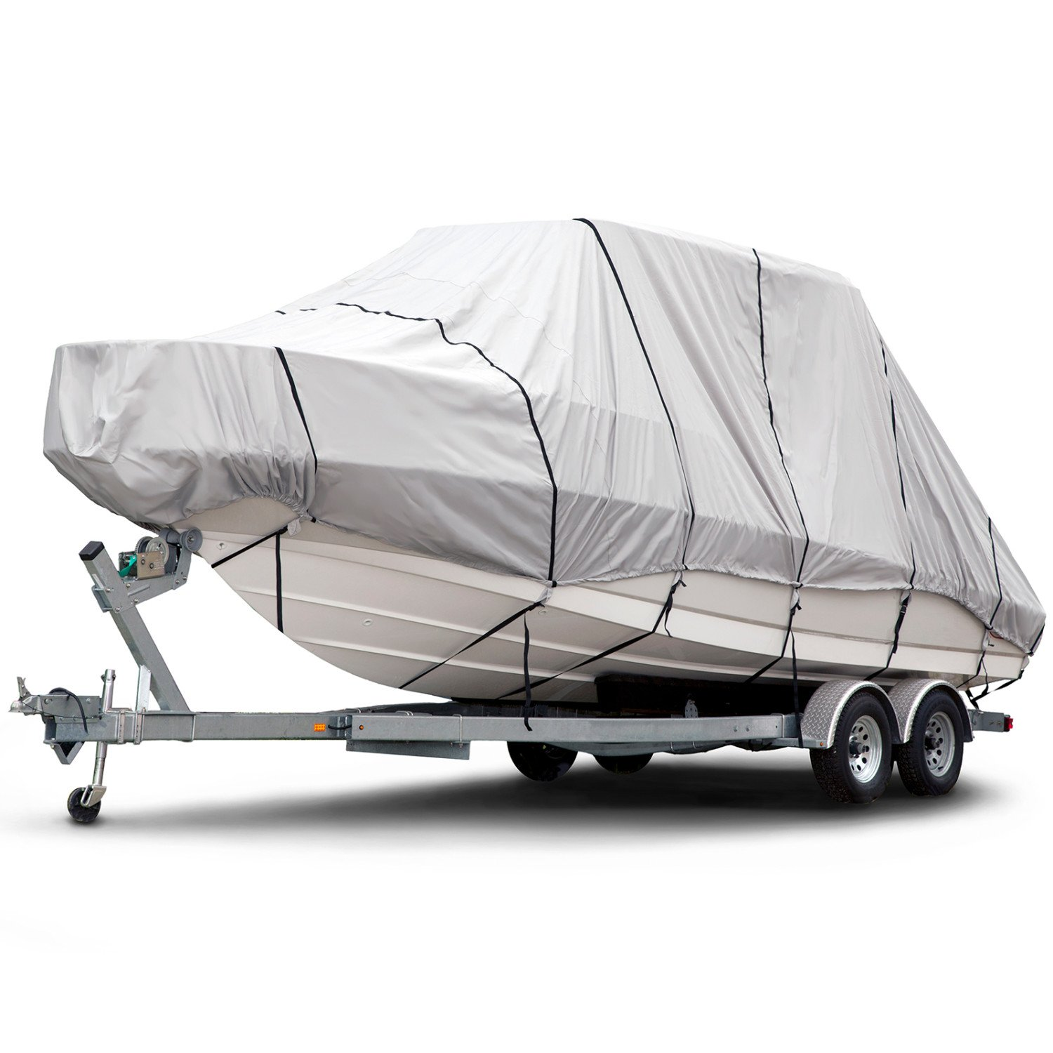 Budge B-1221-X8 Gray 24'-26' Long (Beam Width Up to 106'') Boat Cover