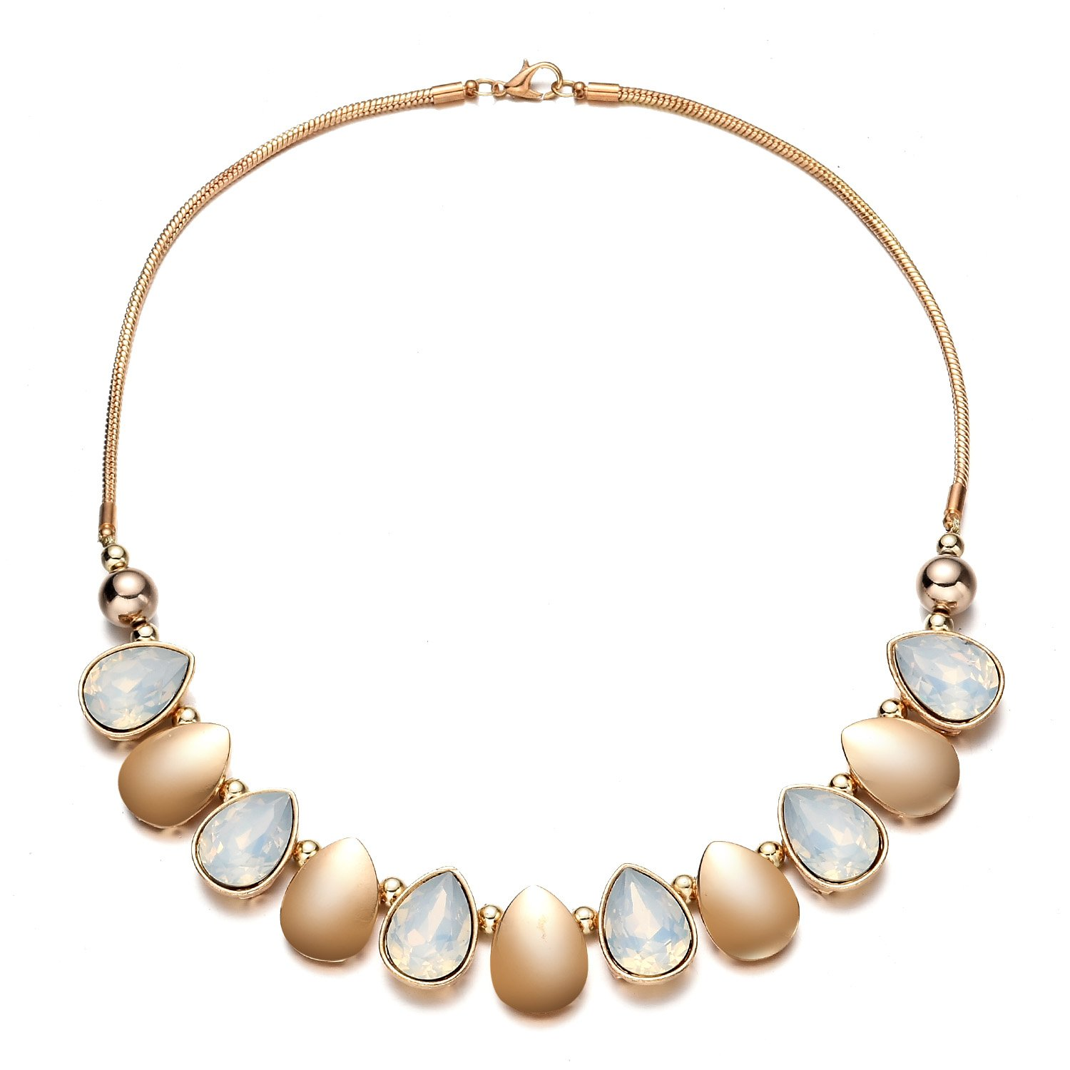 Oaonnea Women Gold Chains Choker Necklace Water Drop Pendant Statement Collar Necklaces (waterdrop necklace)