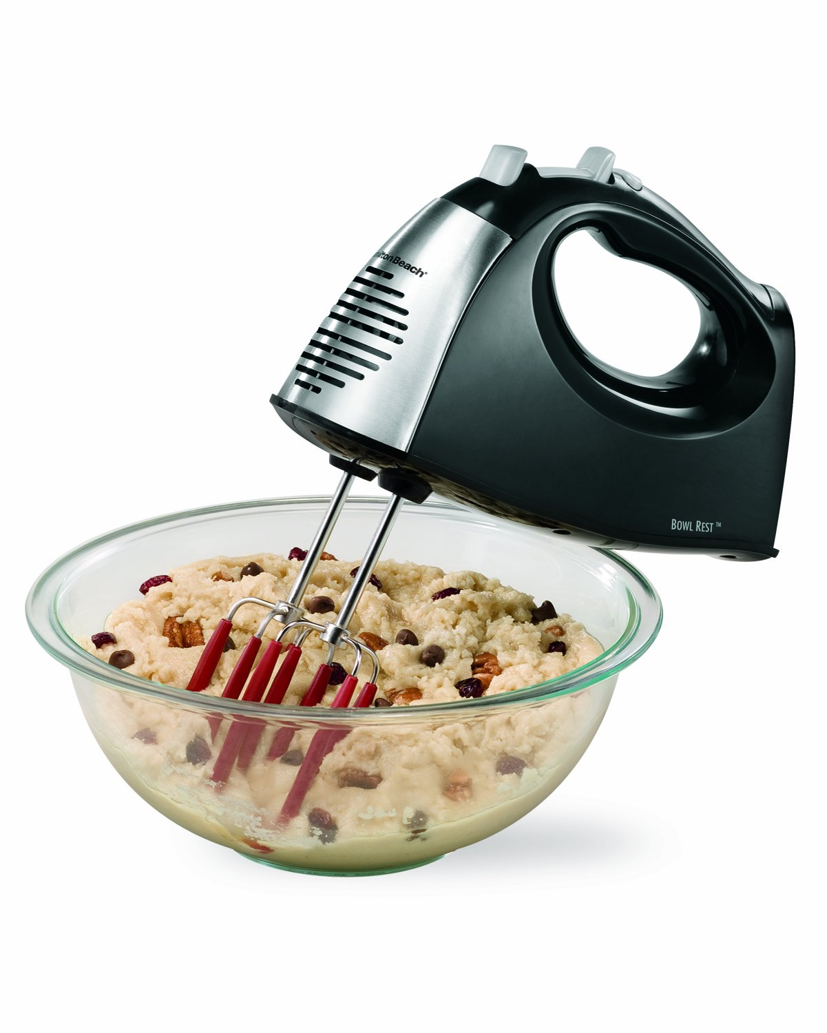 Hamilton Beach 6-Speed Hand Mixer with storage Case and Soft Srape