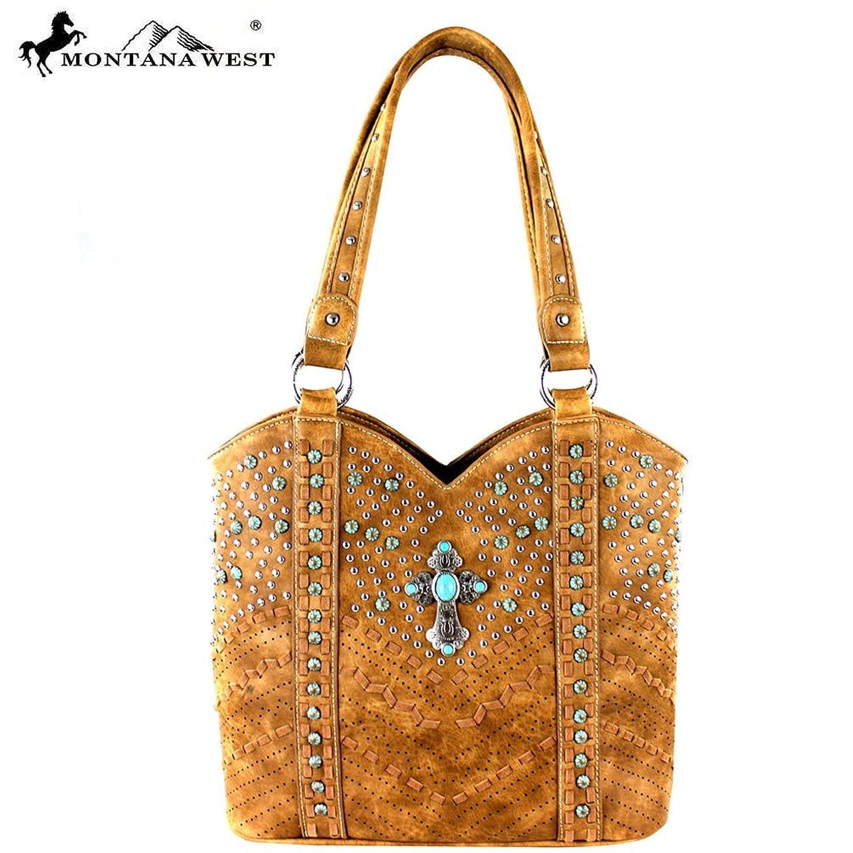 Montana West Spiritual Collection Shoulder Bag Tote (Brown)