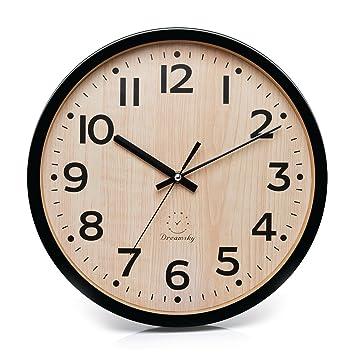 Amazon.com: DreamSky Reloj de pared de cuarzo silencioso de ...