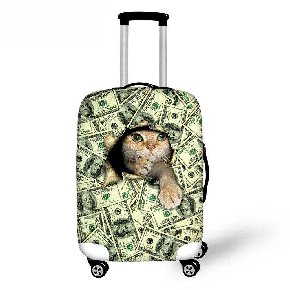 Horeset Travel Luggage Cover Suitcase Protector Cat Pattern Fits 18-30 Inch Luggage Washable Carry On Covers 3