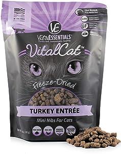 Vital Essentials Vital Cat Freeze-Dried Grain-Free Turkey Mini Nibs Cat Food, 12 oz.