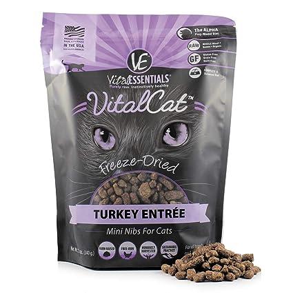Amazoncom Vital Essentials Vital Cat Freeze Dried Turkey Mini