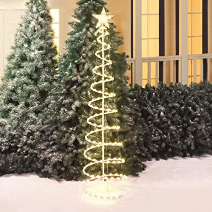 Amazon.com: Peg Perego Holiday Time 6' Lighted Spiral Christmas Tree ...