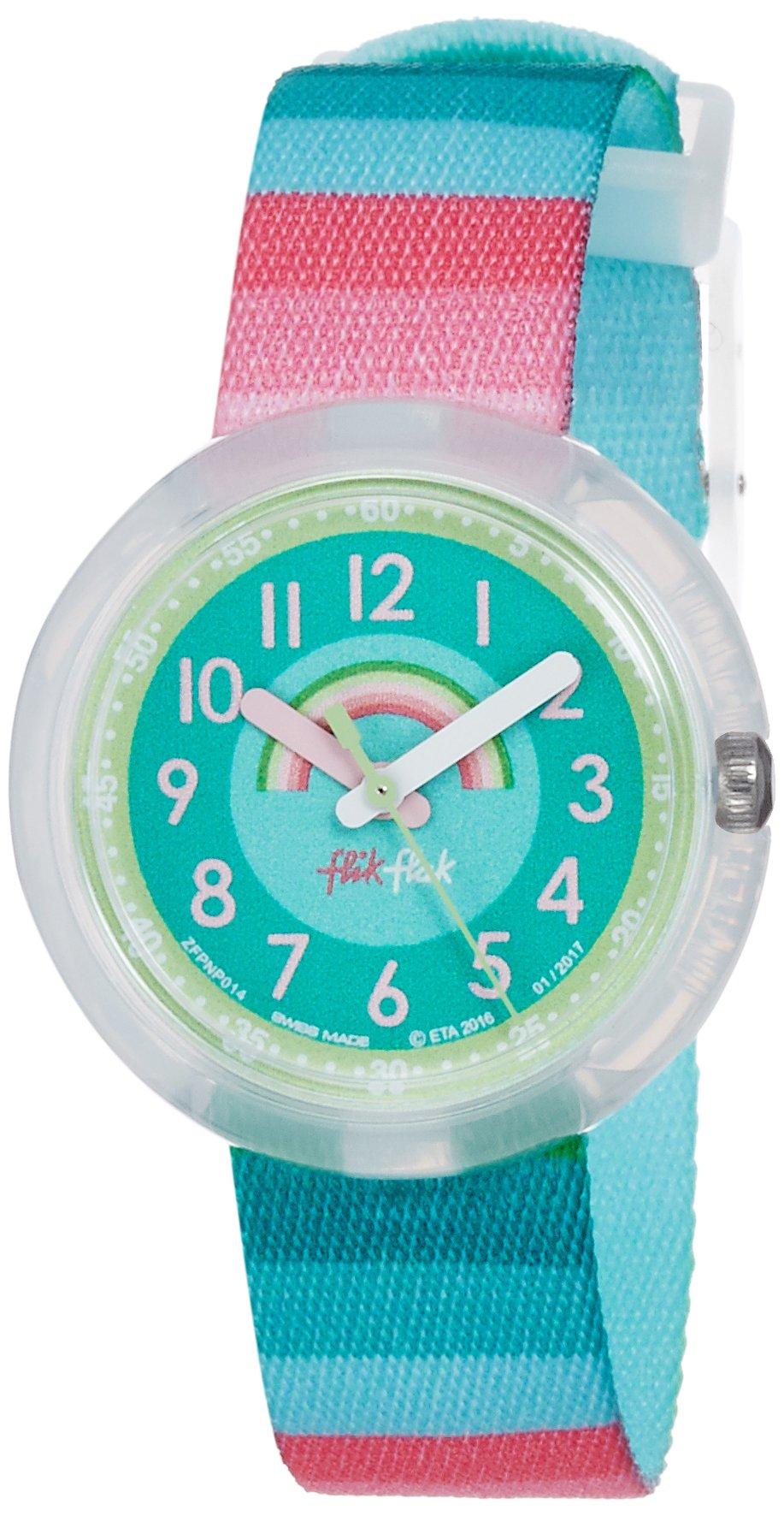 Flik Flak Kids' Quartz Nylon Strap, Green, 14 Casual Watch (Model: ZFPNP014) by Flik Flak