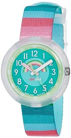 Flik Flak Reloj Analogico para niñas de Cuarzo con Correa en Tela FPNP014: Amazon.es: Relojes