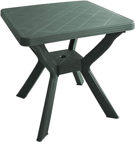 Tavolo Da Giardino In Plastica Verde.Sf Savino Filippo Tavolo Tavolino Quadrato In Resina Di Plastica