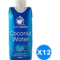 Palmdream Coconut Water, Natural - 330 ml, Pack of 12
