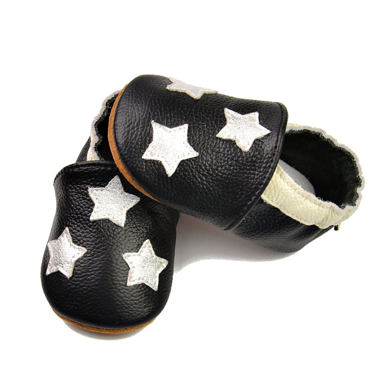 Evelin LEE Baby Girls Boys Soft Sole PU Leather Crib Shoes Infant Toddler First Walking Prewalker
