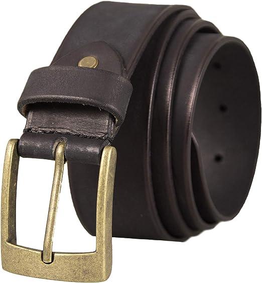 Zerimar Cinturón Piel de Hombre | 4 cm Ancho | Cinturón Hombre ...