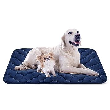 Hero Dog Cama Colchoneta Perro Grande Lavable, Cojines para Mascotas Antideslizante Vellón Almohadilla Suave 120x85 cm (Azul XL)