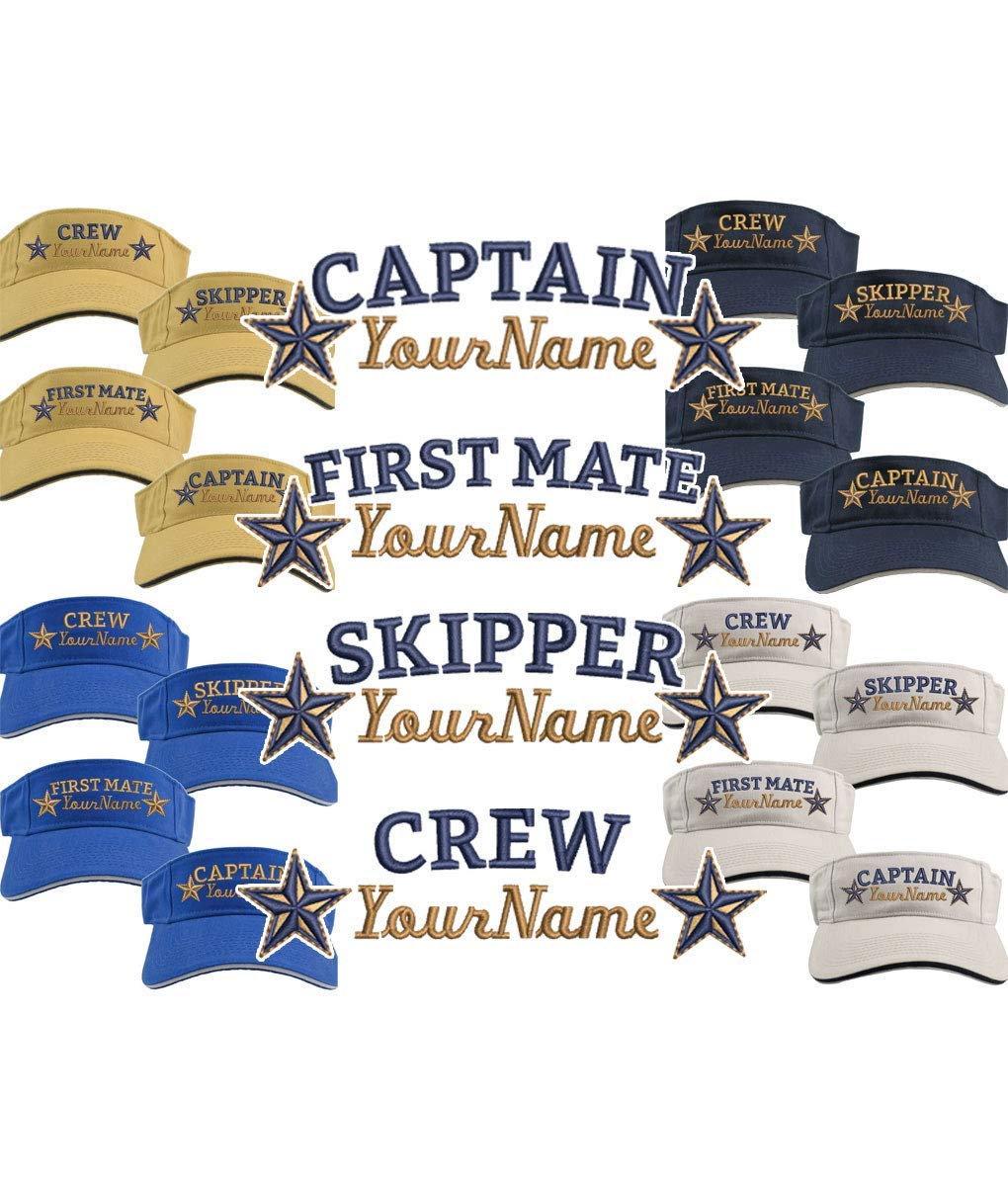 7752577a4 Custom Personalized Your Name on Captain First Mate Skipper Crew ...