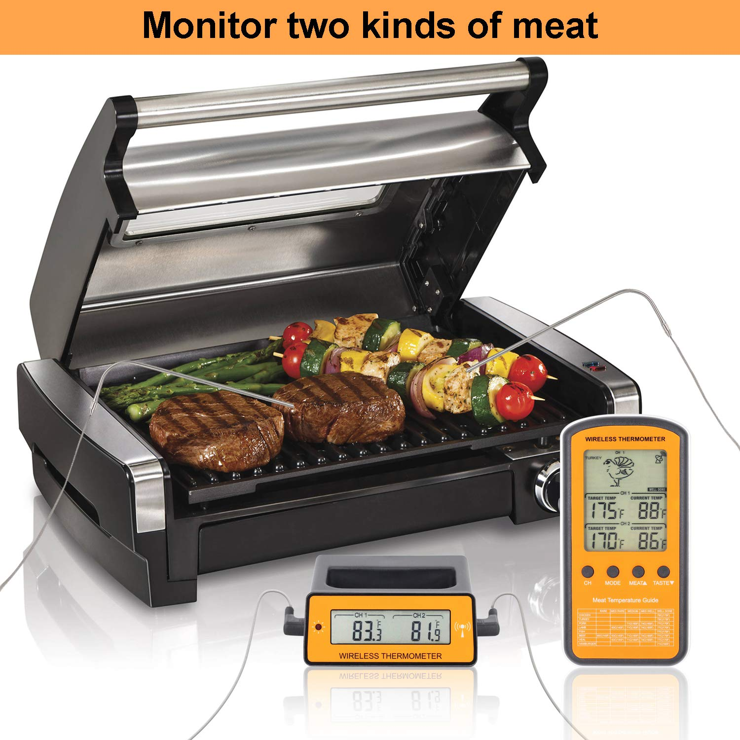 Toroast Wireless Remote Digital Cooking Meat Thermometer Dual Probe for Grilling Smoker BBQ Food Thermometer