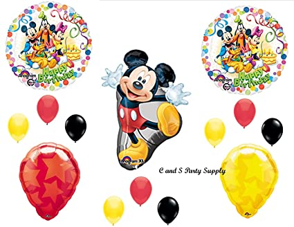 Image Unavailable Not Available For Color Mickey Mouse Clubhouse Happy Birthday Party Balloons Decorations