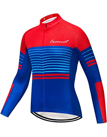 Coconut Ropamo Men s Long Sleeve Cycling Jersey Bike Shirt Bicycle Clothing  Breathable 4112ae0ae